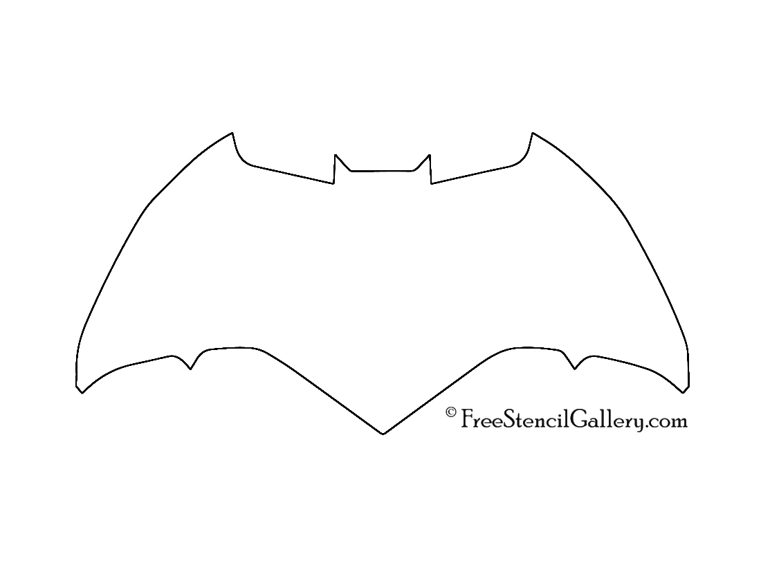 Batman Symbol Stencil 03