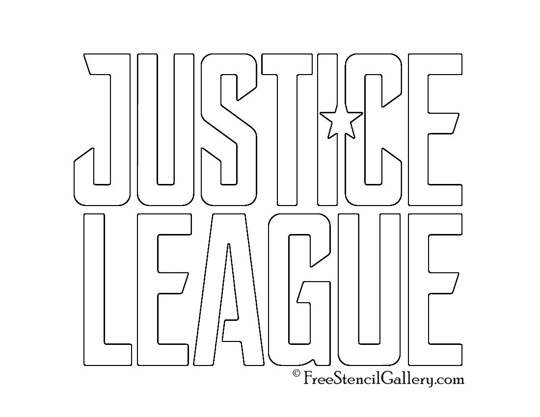 Justice League Logo Stencil