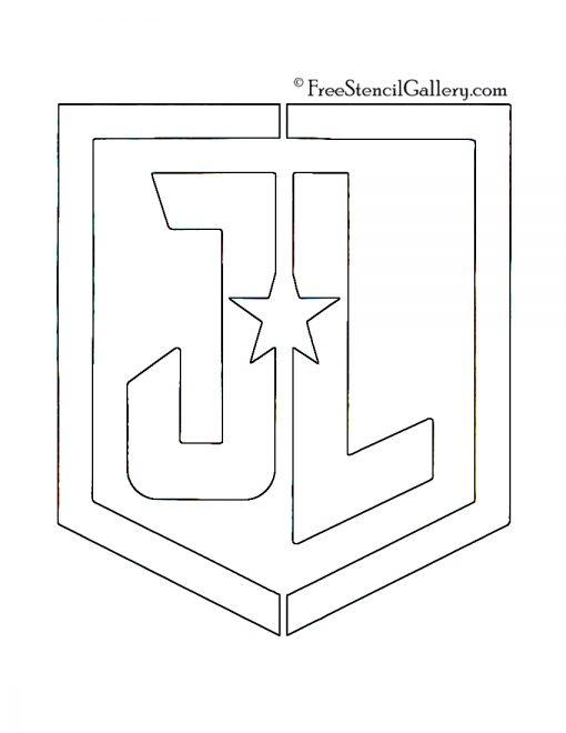Justice League Symbol Stencil