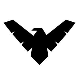 Nightwing Symbol Stencil