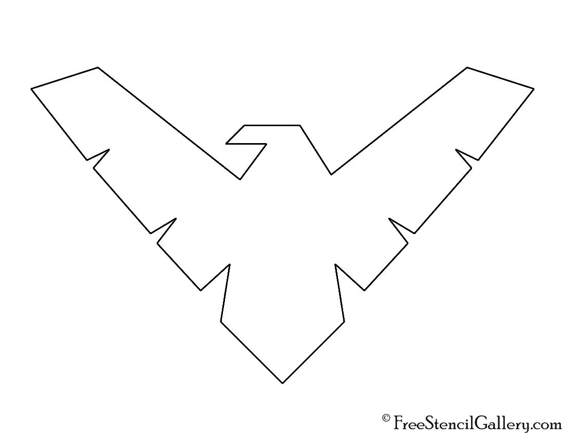 Nightwing Symbol Stencil Free Stencil Gallery