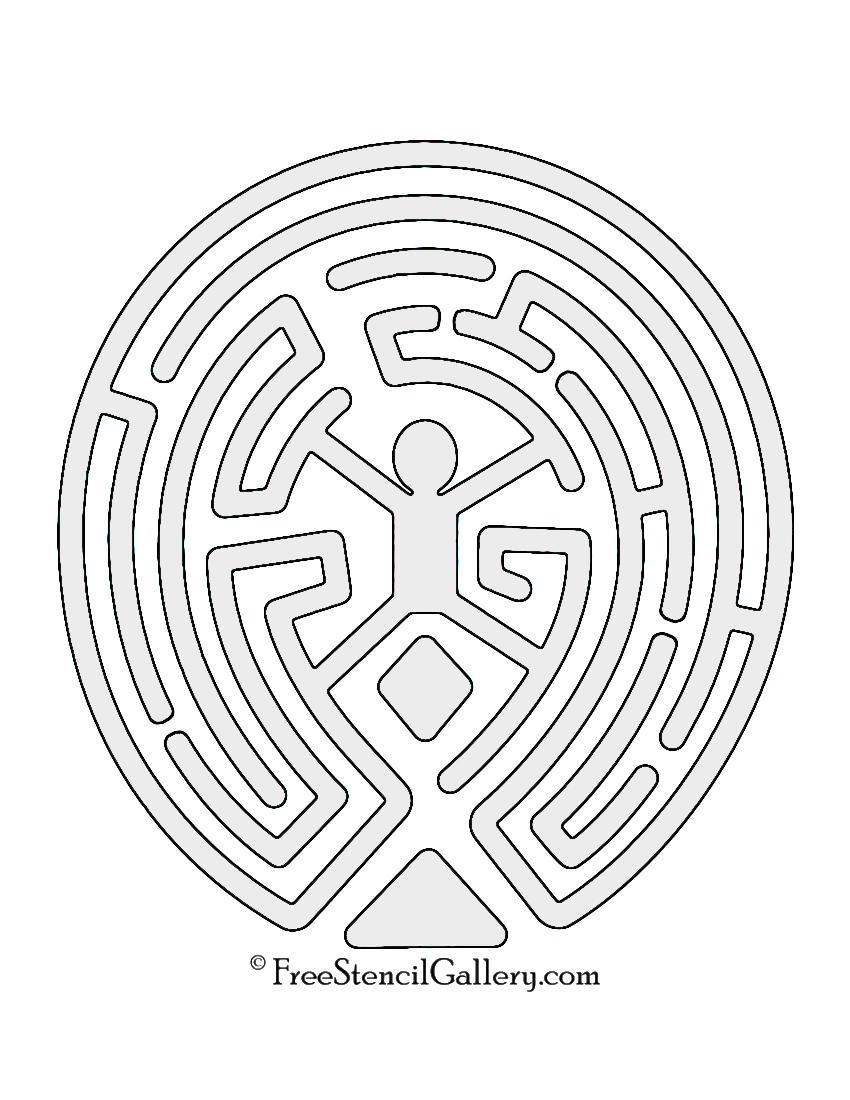 Westworld Maze Stencil Free Stencil Gallery
