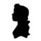Beauty and the Beast - Belle Silhouette Stencil