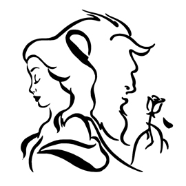 Beauty and the Beast Stencil