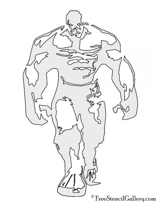 Hulk 02 Stencil