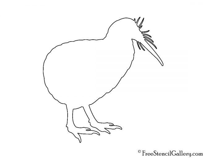 Kiwi Silhouette Stencil