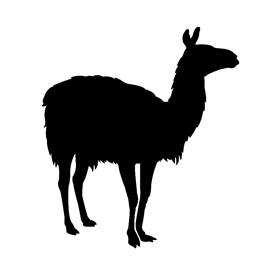 Llama Silhouette Stencil