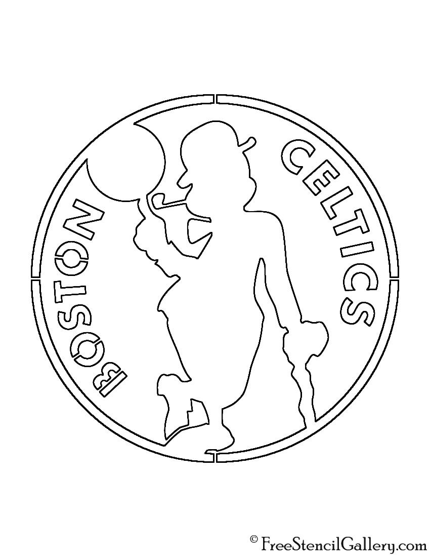 NBA Boston Celtics Logo 02 Stencil