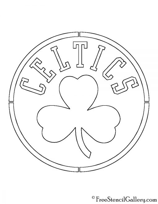 NBA Boston Celtics Logo Stencil