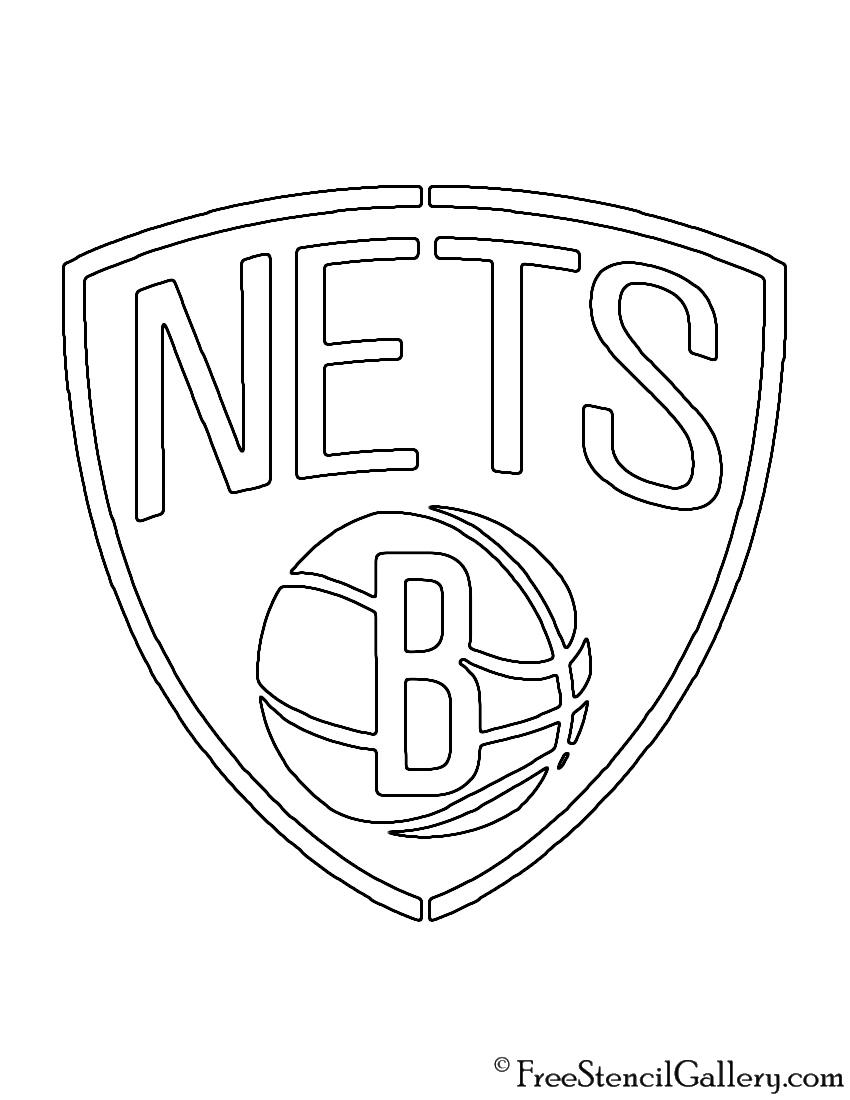 NBA Brooklyn Nets Logo Stencil