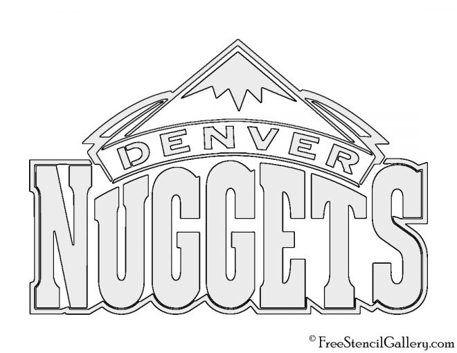 NBA Denver Nuggets Logo Stencil
