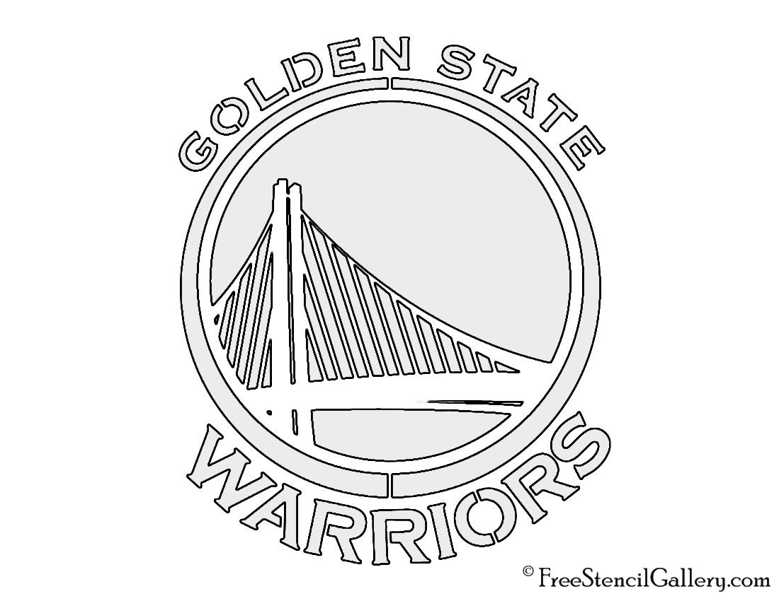 NBA Golden State Warriors Logo Stencil