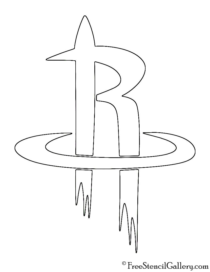 NBA Houston Rockets Logo Stencil