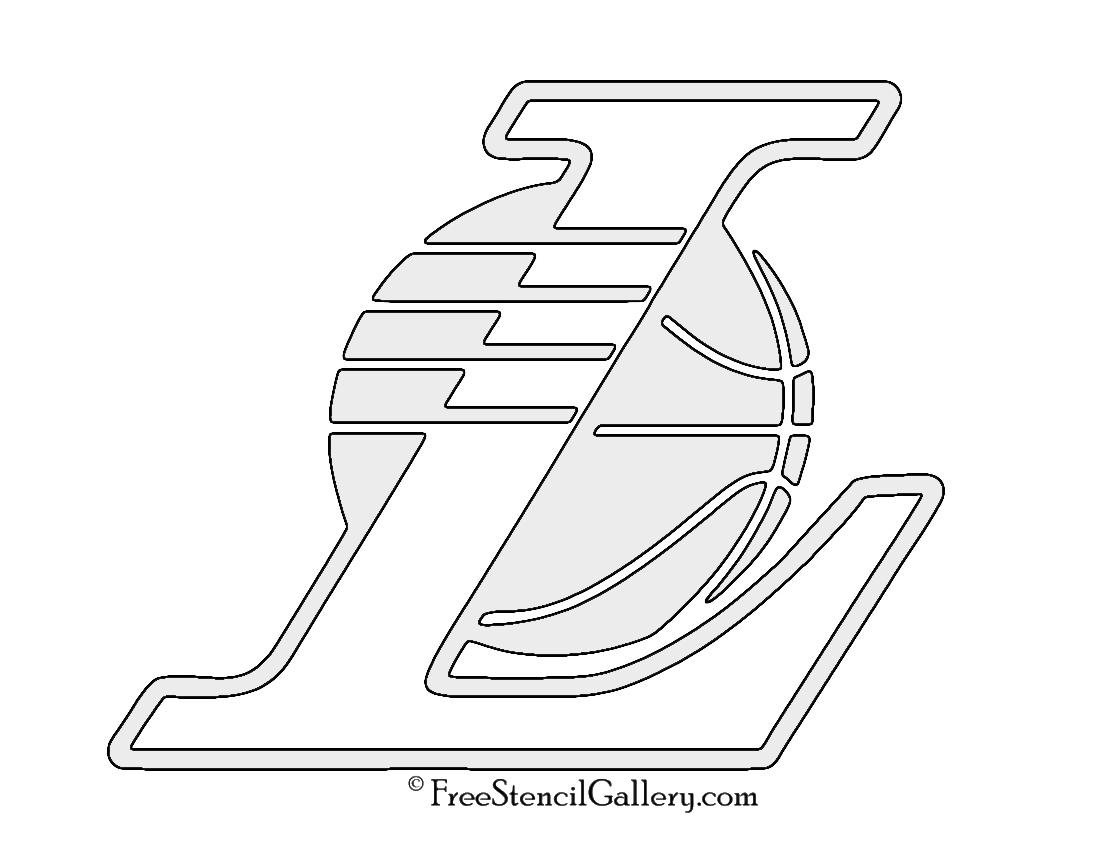 Nba Los Angeles Lakers Logo 02 Stencil Free Stencil Gallery