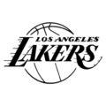 NBA Los Angeles Lakers Logo Stencil