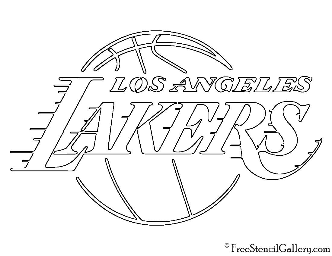 Nba Los Angeles Lakers Logo Stencil Free Stencil Gallery