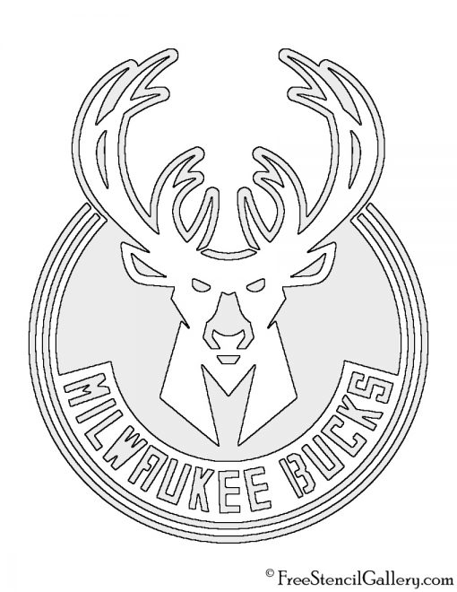 NBA Milwaukee Bucks Logo Stencil