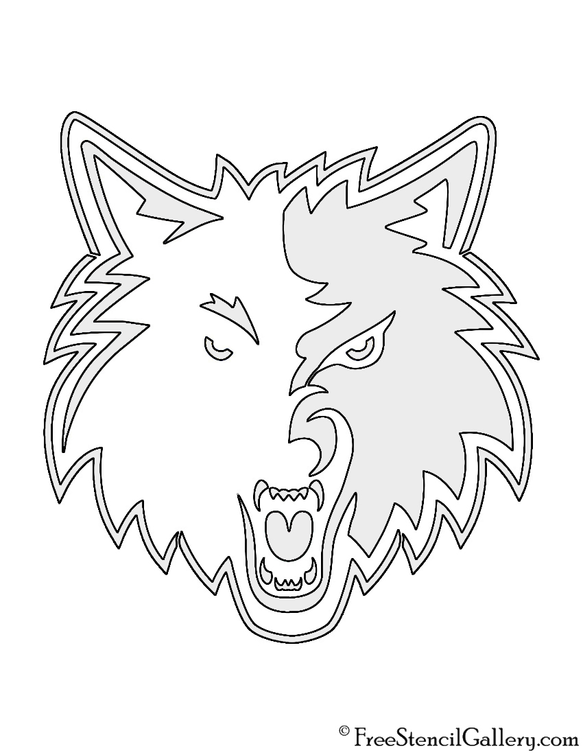 timberwolves coloring pages nba minnesota timberwolves logo stencil free stencil gallery
