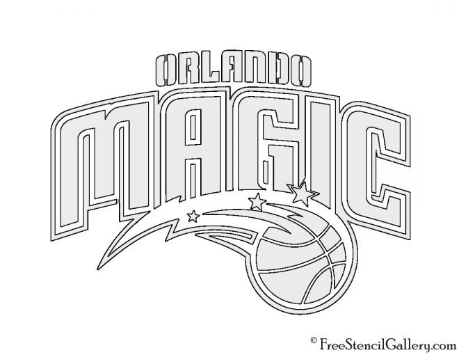 Nba Orlando Magic Logo Stencil Free Stencil Gallery