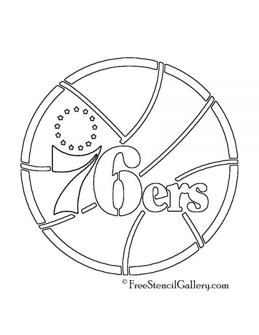 NBA Philadelphia 76ers Logo Stencil