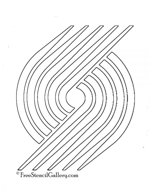 NBA Portland Trail Blazers Logo Stencil