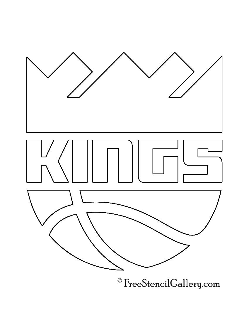 NBA Sacramento Kings Logo Stencil