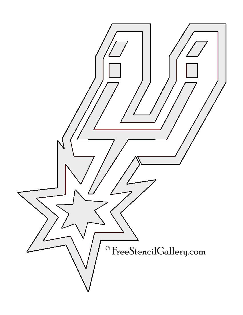 NBA San Antonio Spurs Logo Stencil