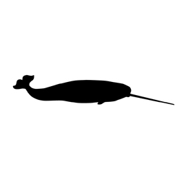 Narwhal Silhouette Stencil