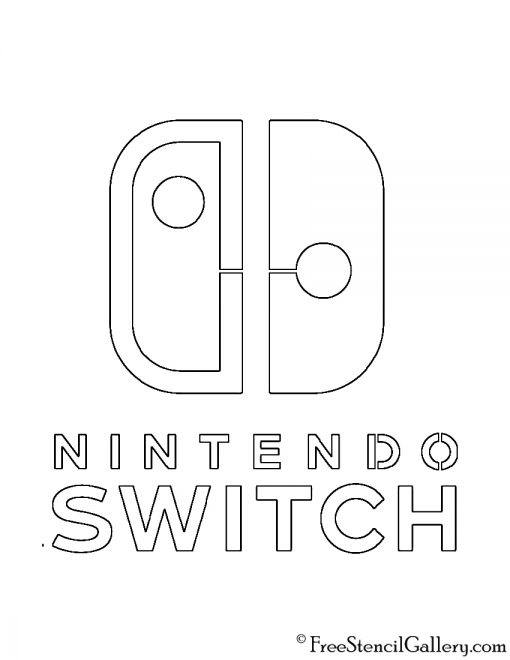 Nintendo Switch Logo Stencil