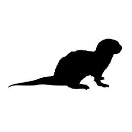 Otter Silhouette Stencil