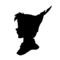 Peter Pan Silhouette 02 Stencil