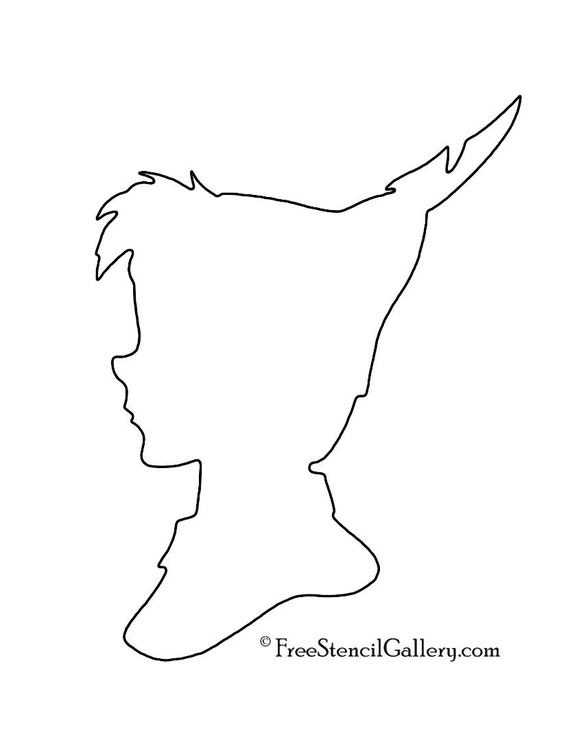 Peter Pan Silhouette 02 Stencil Free Stencil Gallery