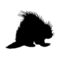 Porcupine Silhouette Stencil