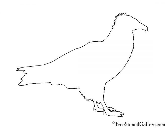 Vulture Silhouette Stencil