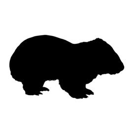 Wombat Silhouette Stencil