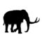 Wooly Mammoth Silhouette Stencil