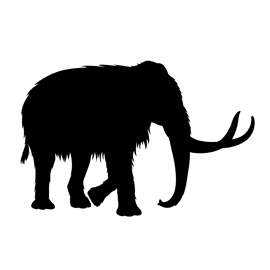 Woolly Mammoth Silhouette Stencil