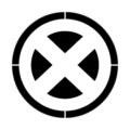 X-Men Symbol Stencil