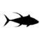 Yellowfin Tuna Silhouette Stencil