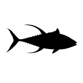 Yellowfin Tuna Silhouette Stencil