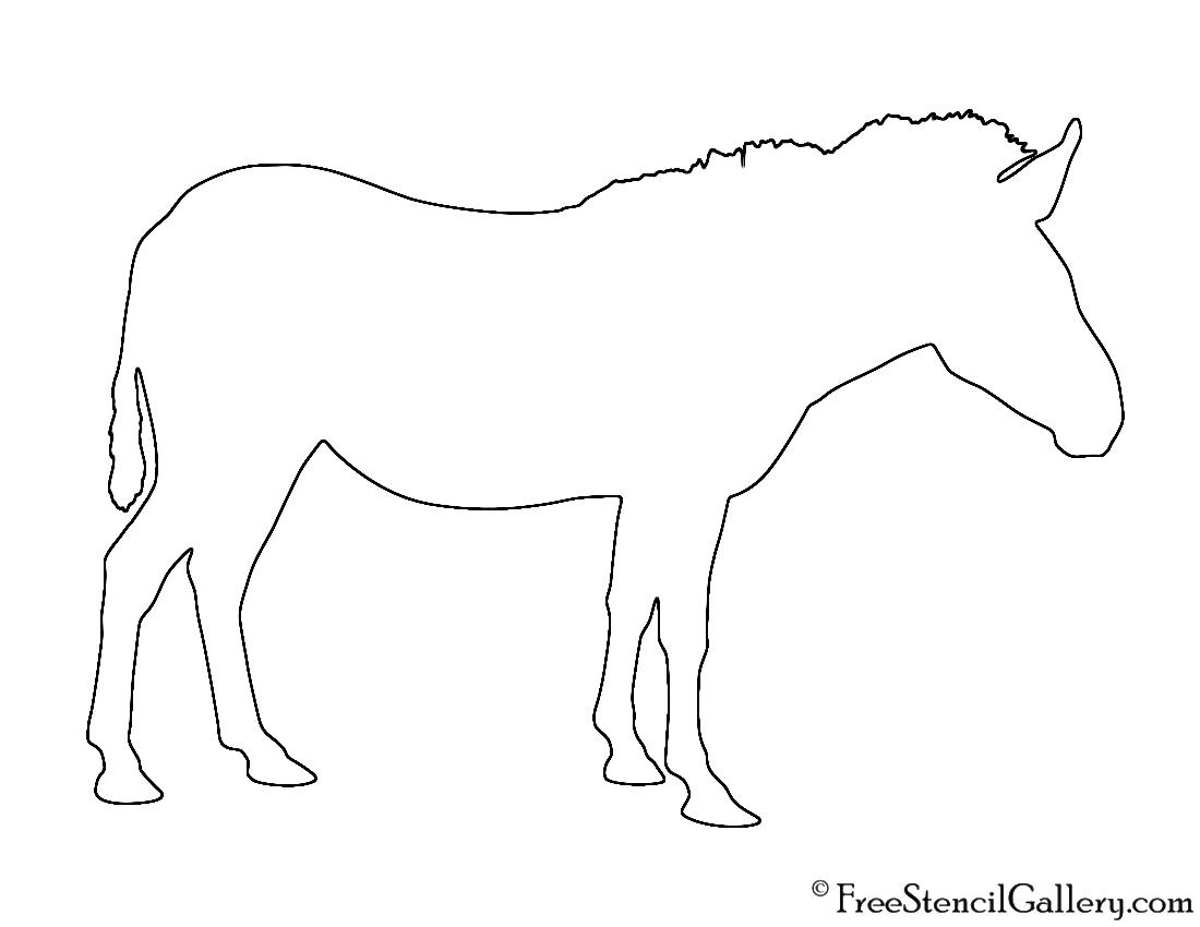 Zebra Silhouette Stencil