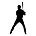 Baseball Player Silhouette 02 Stencil