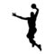 Basketball Player Silhouette Stencil