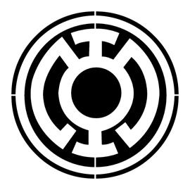 Blue Lantern Corps Symbol Stencil