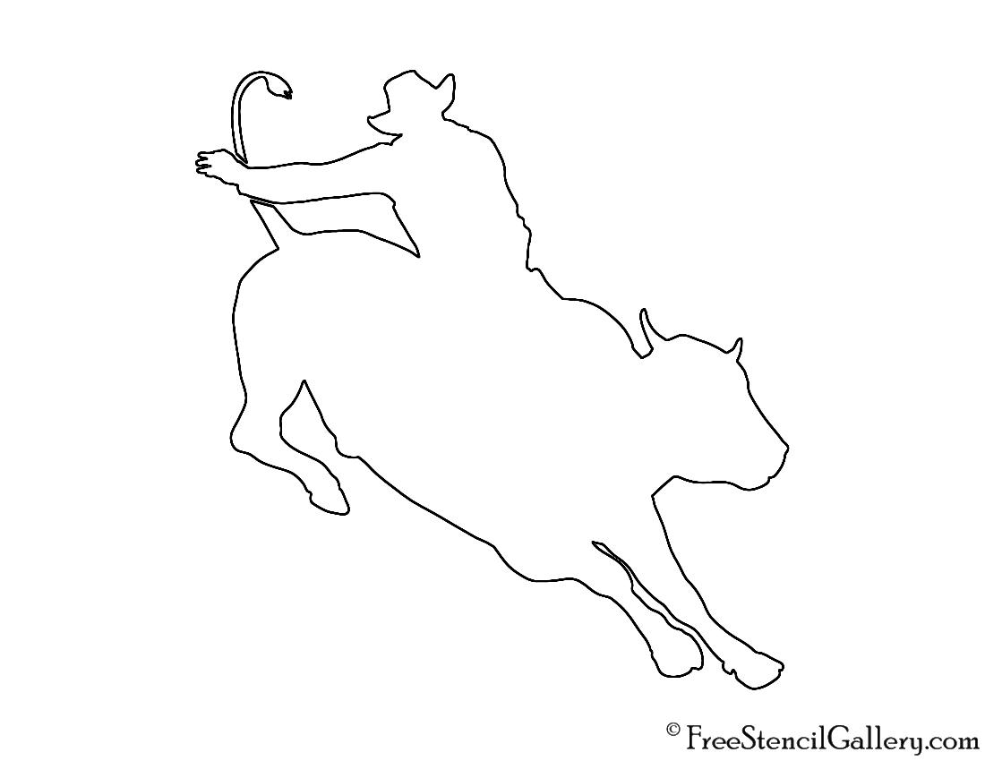 Bull Rider Stencil