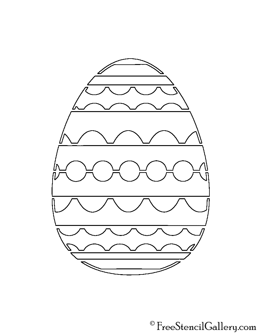 Easter Egg 01 Stencil | Free Stencil Gallery