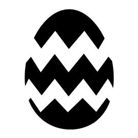 Easter Egg 02 Stencil