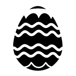 Easter Egg 03 Stencil