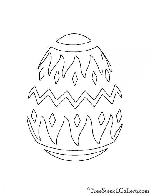 Easter Egg 04 Stencil