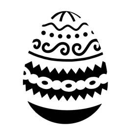 Easter Egg 05 Stencil
